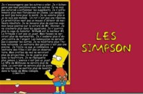 Les Simpsons Bart copie !