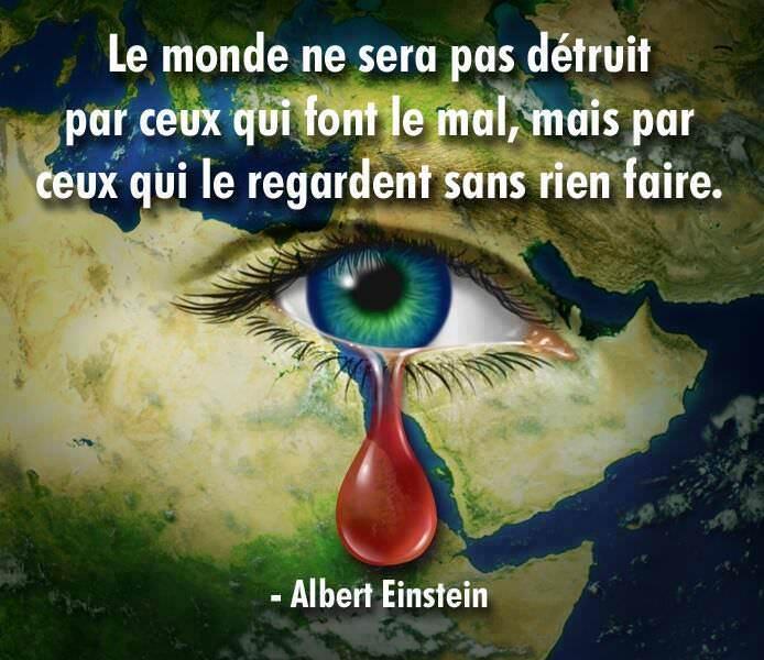 Proverbe en image : Le monde ne sera pas détruit par ceux...